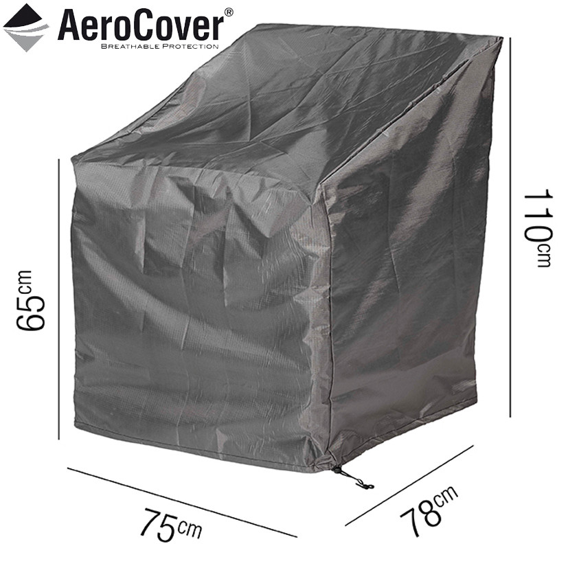 garden recliner chair covers chiavari chairs aerocover cover 75x78x110cm qubox for protective high back lounge 75 x 78 110cm 18