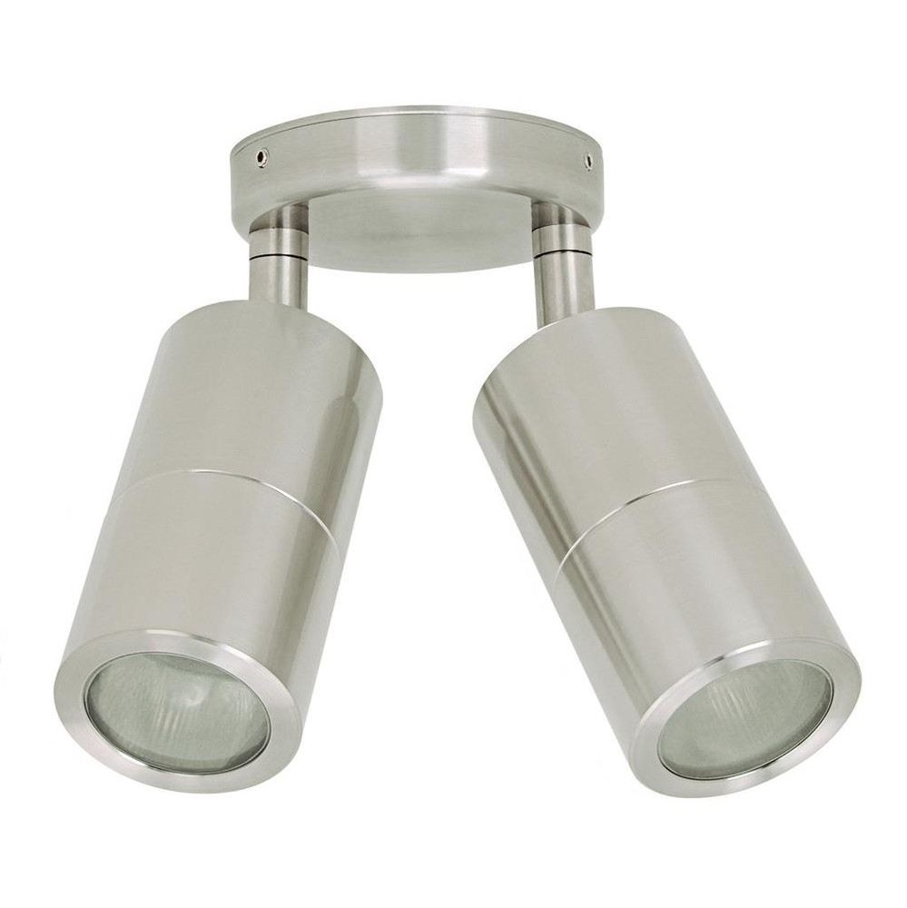 ceiling lights 2 x 240v marine grade 316 stainless steel adjustable gu10 35w ip65