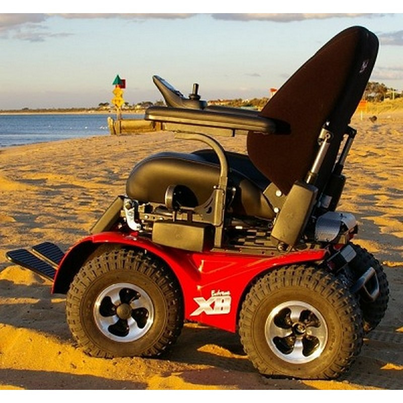 all terrain electric wheelchair jevil x8 4x4 extreme power by innovation in motion beach picture