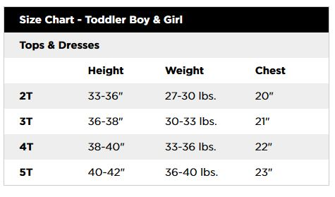 Jumping beans children   clothing size chart download also toddler girl rh freecookinggamesfo