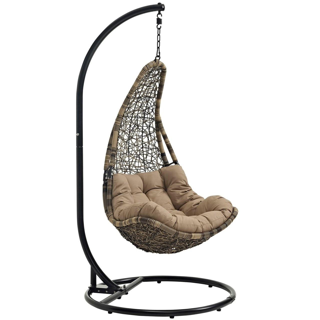 Swing Chair Stand Abate Outdoor Patio Swing Chair With Stand Black Rattan 10909