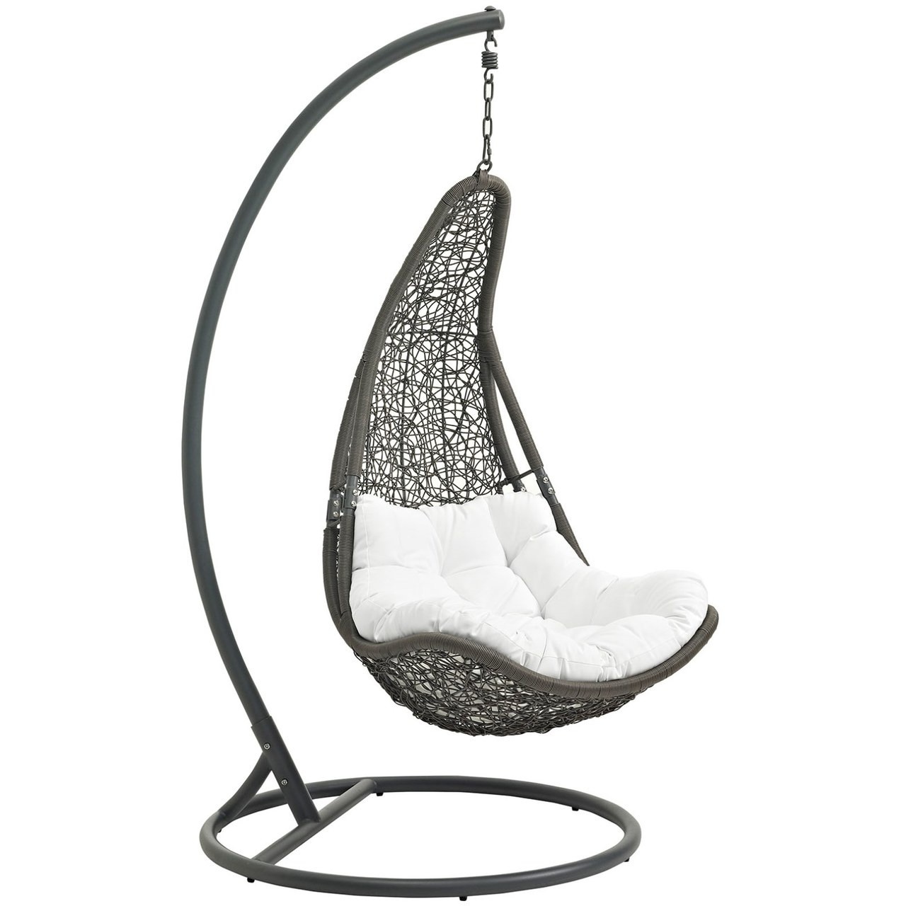 Swing Chair Stand Abate Outdoor Patio Swing Chair With Stand White Rattan 10910