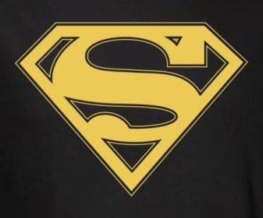 superman t shirt gold