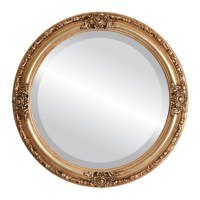Antique Gold Round Mirrors from $164 | Free Shipping