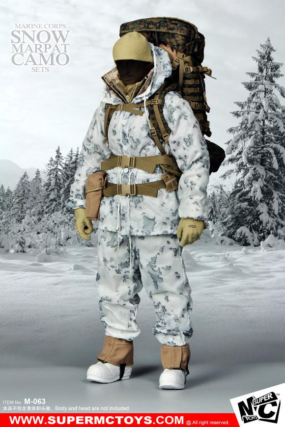 MCM063 Super MC Toys Marine Corps Snow Marpat Camo Set  EKIA Hobbies