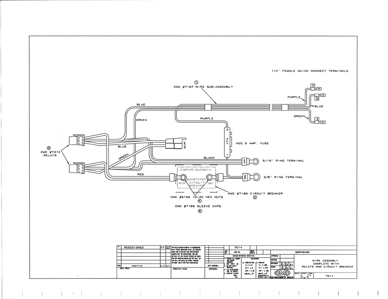 wire assembly cmc 7014g cmc tilt and trim wiring harness cmc wiring harness [ 1280 x 988 Pixel ]