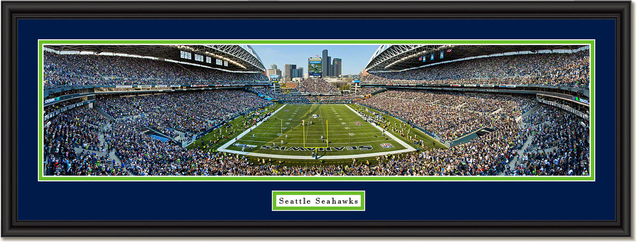 seattle seahawks centurylink field football framed poster