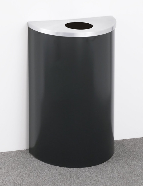 14 Gal Glaro Half Round Trash Can or Recycle Bin w