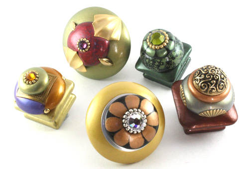 Unique Jewel Tone Cabinet Knobs In 1 5 And 2 Inch Diameter