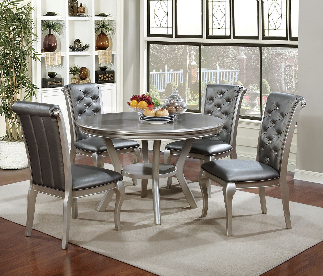Hover Round Chairs Furniture Of America Cm3219rt Round Dining Set