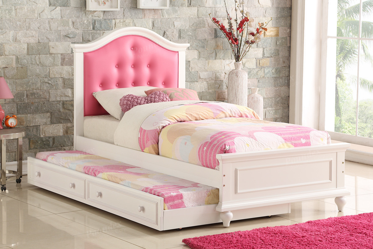 Poundex F9377 Twin Bed With Trundle Beds In