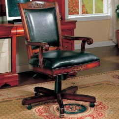 Wooden Executive Office Chairs Modern Black Dining Ellington Cherry Wood Chair