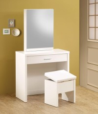 Taylor White Makeup Vanity Table Set
