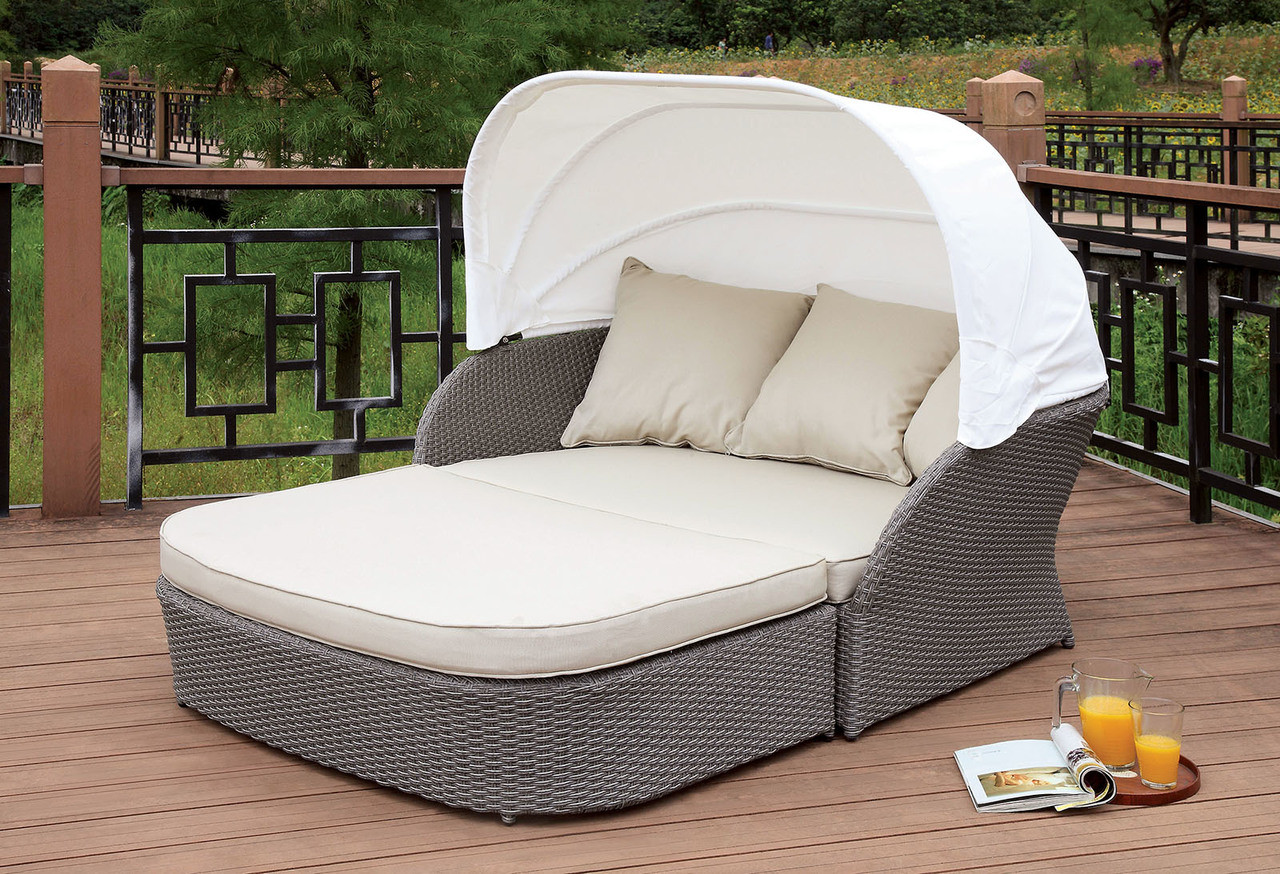 Furniture Of America Os2107 Outdoor Patio Canopy Daybed