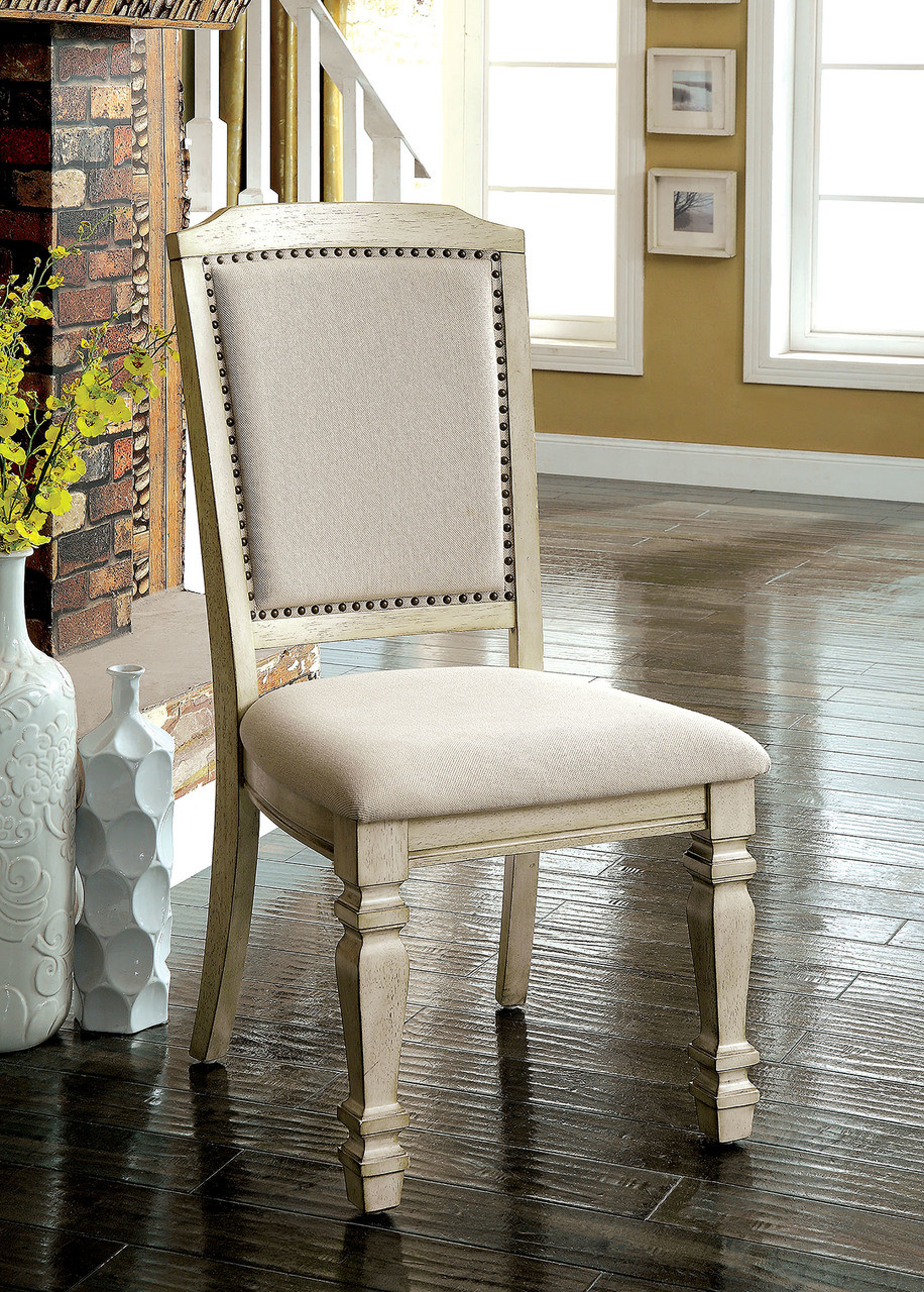 white upholstered chairs ergonomic chair lounge holcroft antique fabric with nail head trim