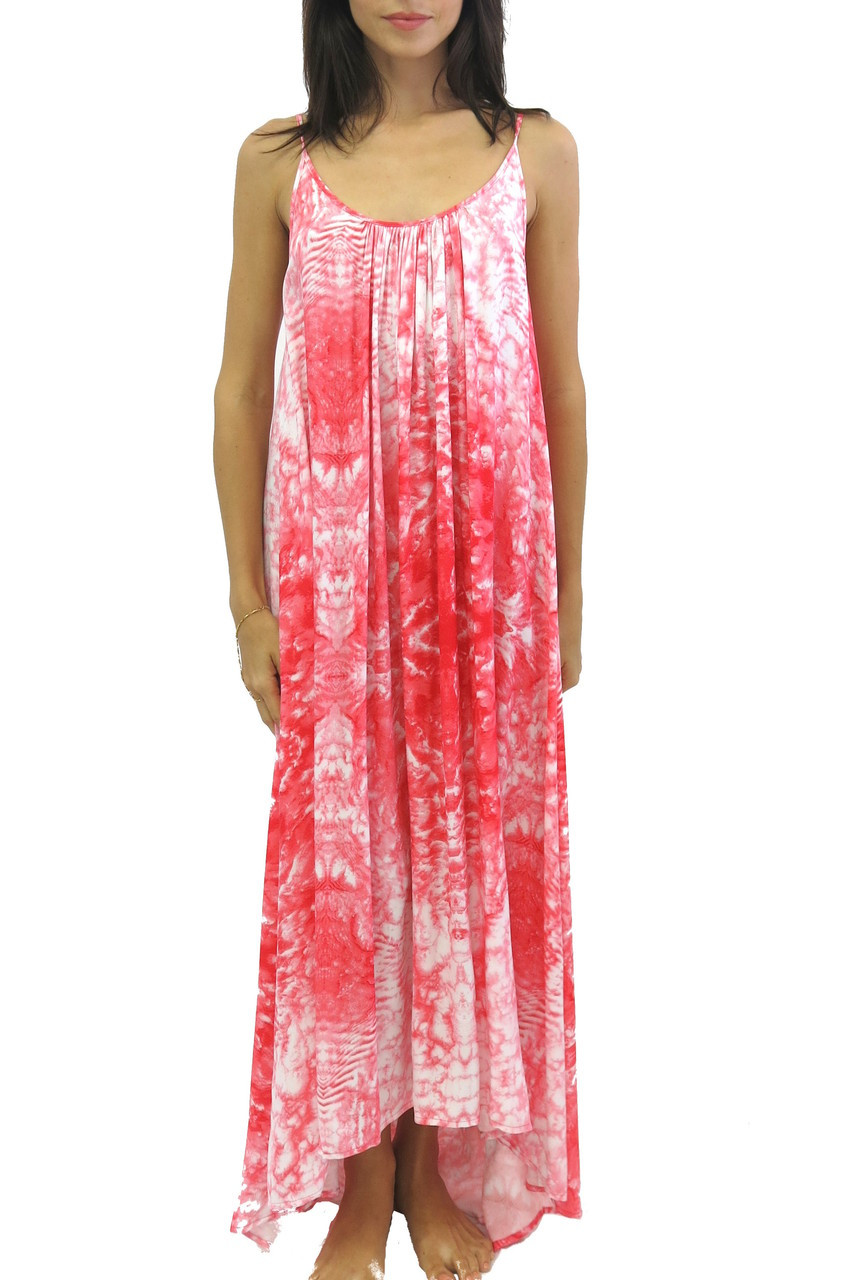 2015 Mikoh Swimwear Biarritz Maxi Dress Whitewater