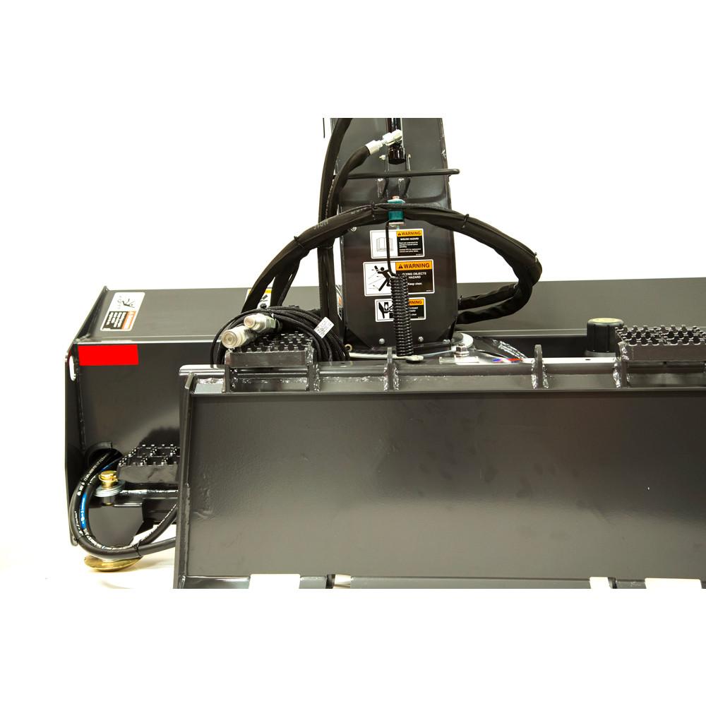 medium resolution of fcc mini skid steer snow blower attachment back view