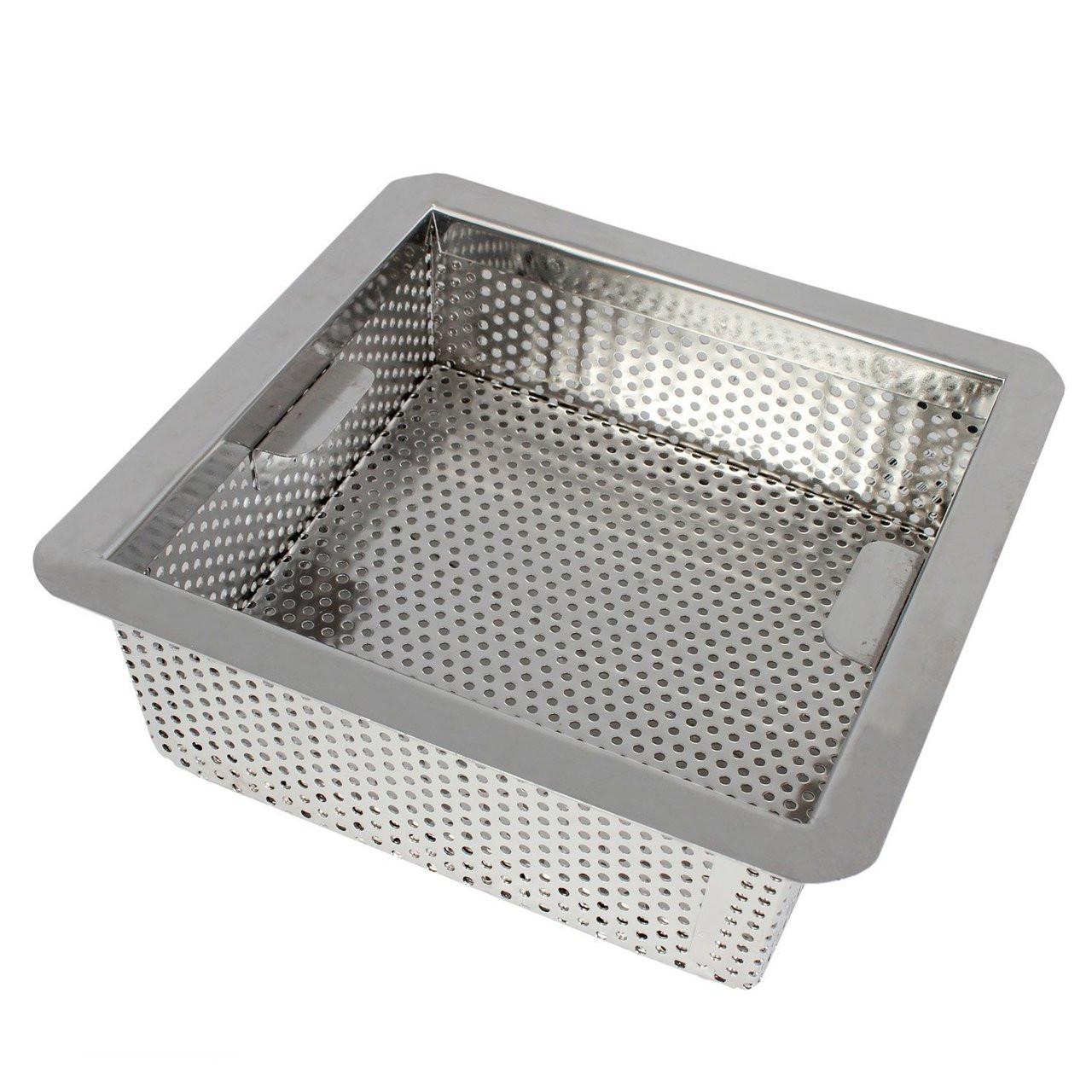 85 Stainless Steel Perforated Drain Bucket  DrainNet