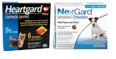 NexGard and Heartgard Combo for Dogs 10.1 - 24 lbs - 6 Pack   Discount Pet Medication USA