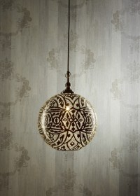 Moroccan Silver Ball Pendant Lamp - Zest Lighting