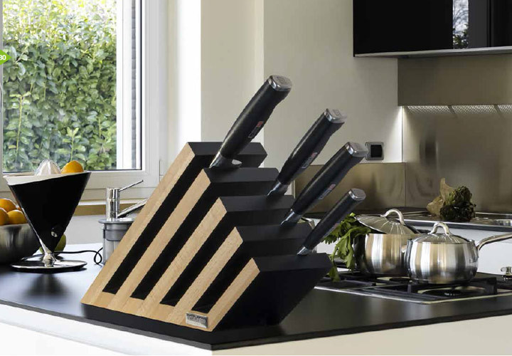 Richlite Countertop Artelegno Venezia Magnetic Knife Block - Cuttingboard.com