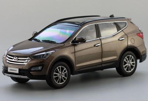 BRAND NEW RARE 118 HYUNDAI SANTA FE BROWN DIECAST CAR