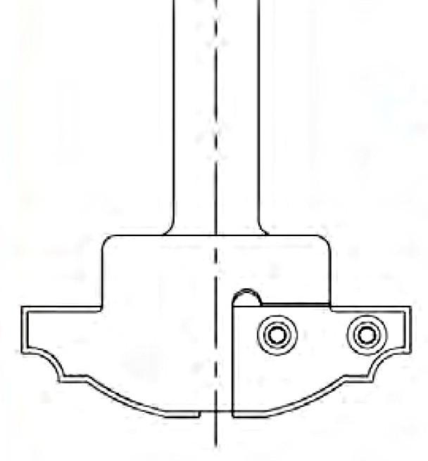 Raised Panel Insert Bit, Multi-Profile, 3/4