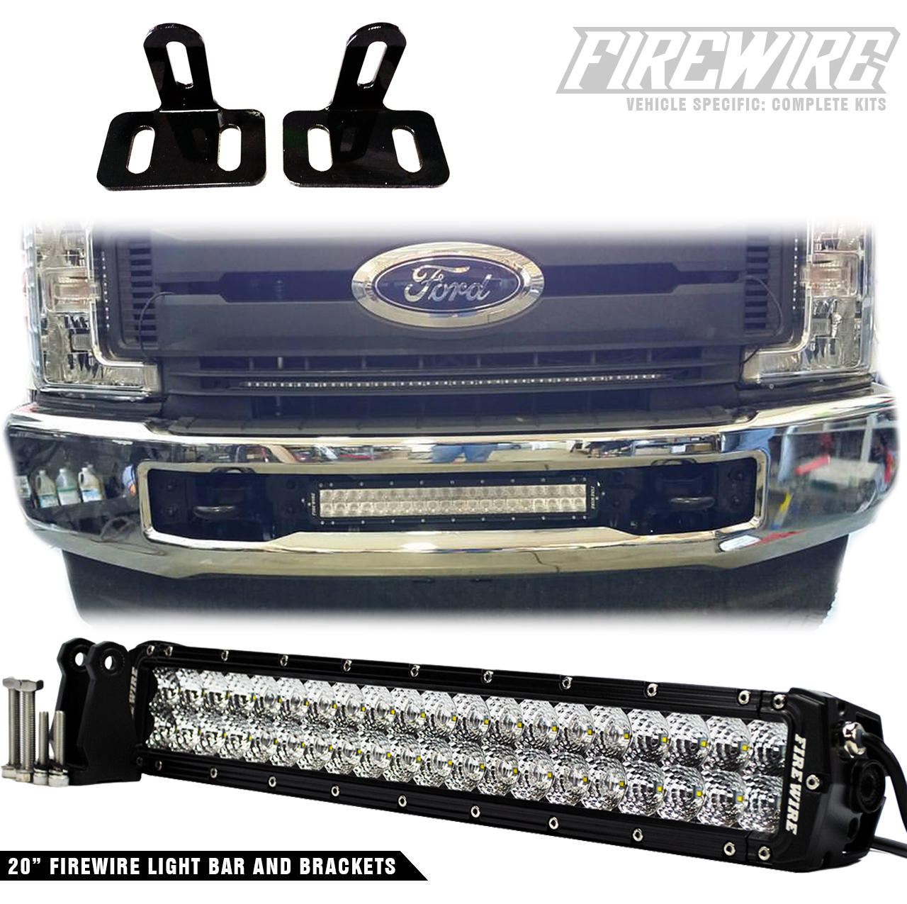 hight resolution of firewire led would like to introduce our newest product the 2017 ford super duty bumper light bar kit this light bar kit includes a 20 inch light bar and