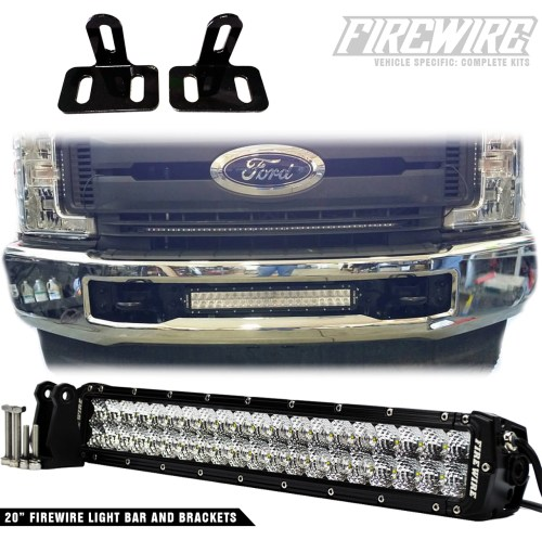 small resolution of firewire led would like to introduce our newest product the 2017 ford super duty bumper light bar kit this light bar kit includes a 20 inch light bar and