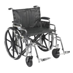 Bariatric Transport Chair 24 Seat Barcalounger Reclining Chairs Xl Wheelchair Desk Arm Swinging Footrest