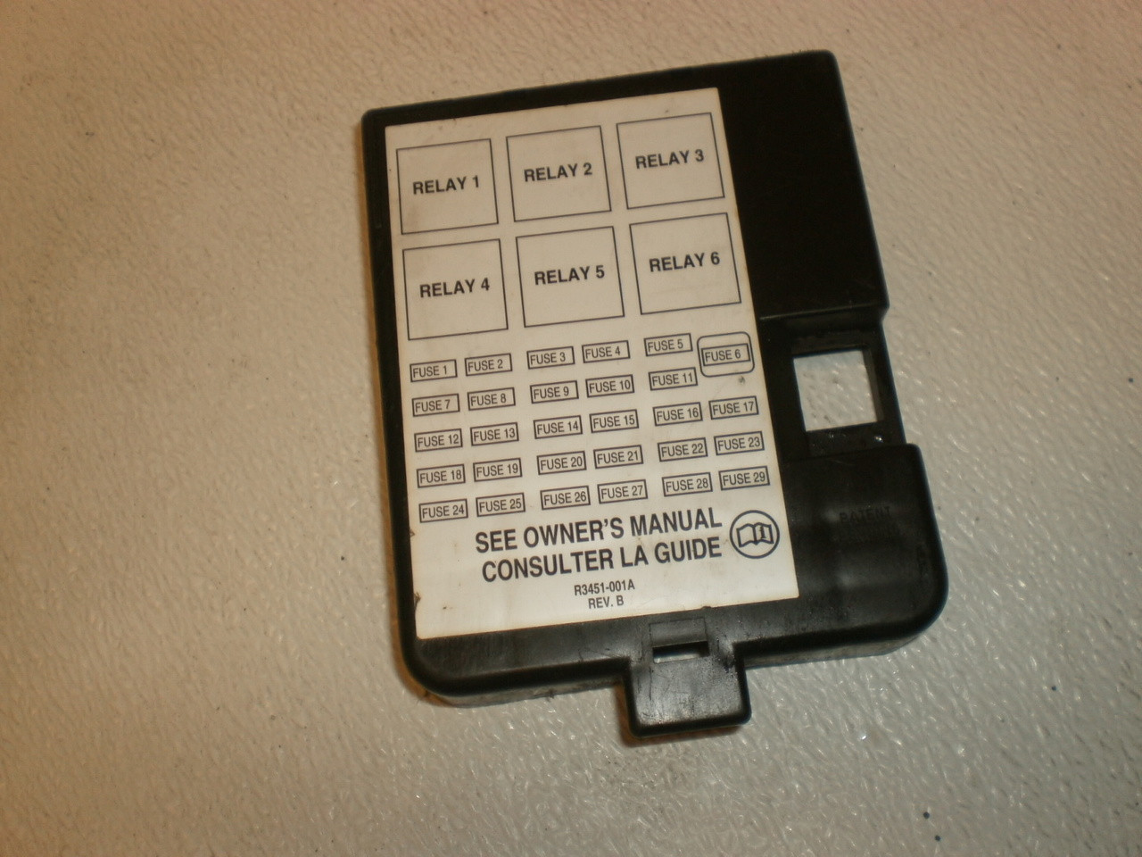 small resolution of 1999 2003 ford windstar under dash fuse box lid cover xf2t 14a075 a