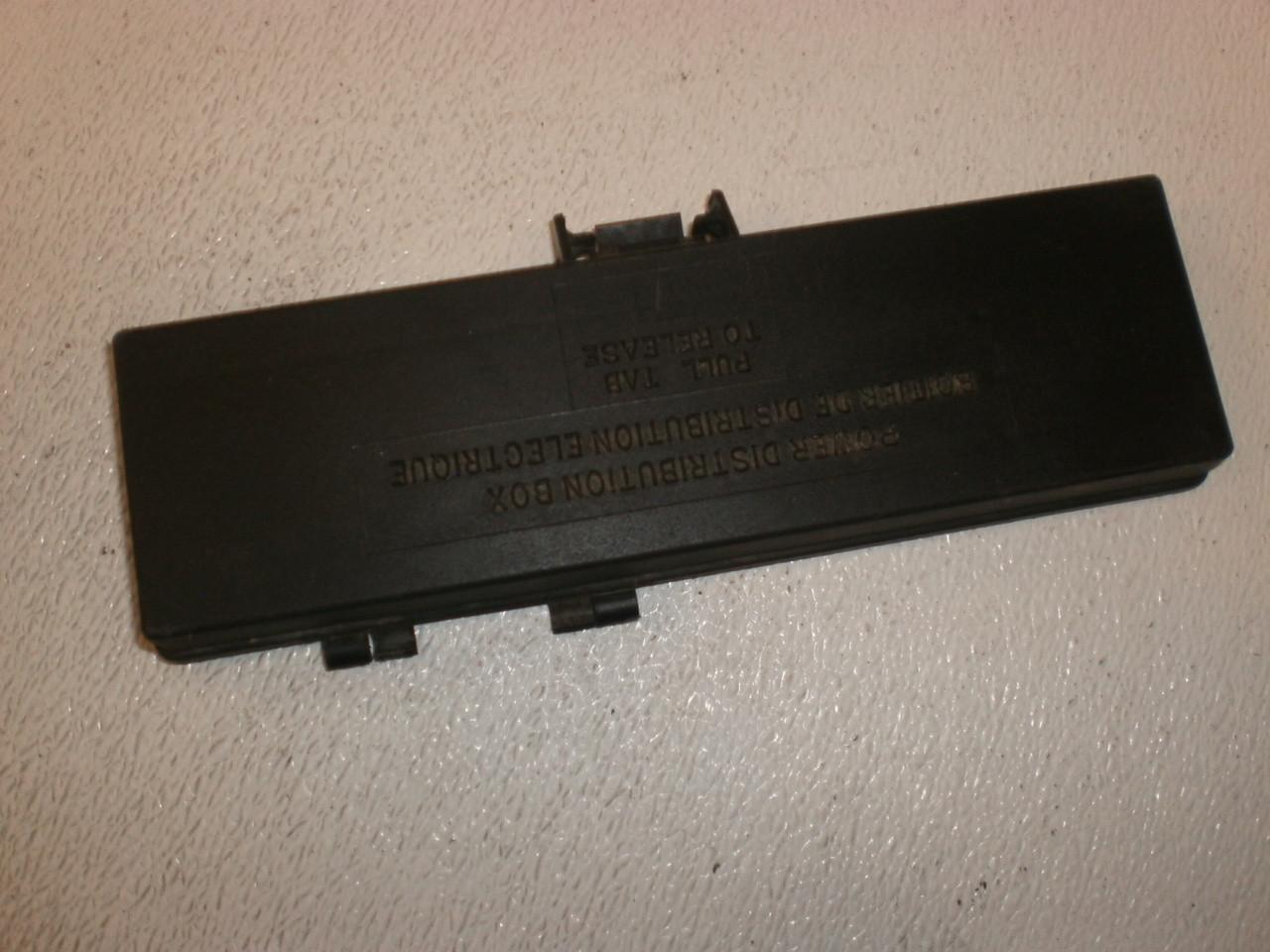 medium resolution of 1995 2001 ford explorer under hood fuse panel lid cover trim diagram