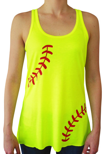 Cute Wallpapers For Lockers Softball Laces Flowy Women S Tank Top