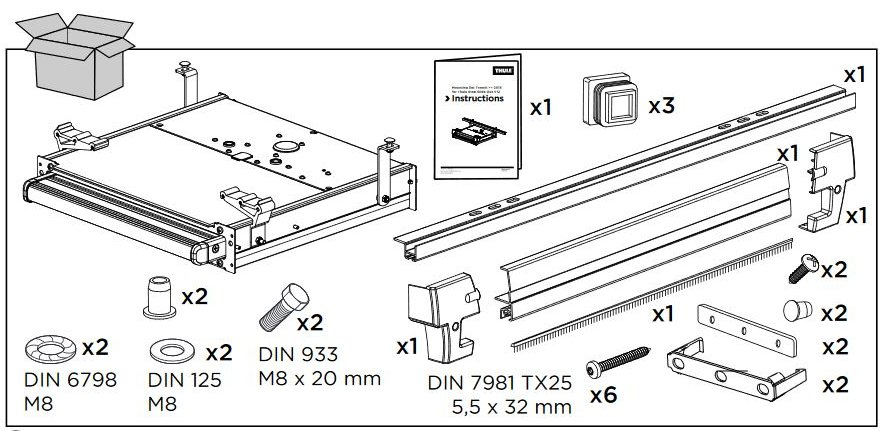 Thule Omnistep Installation Fixing Kit for Ducato Euro6