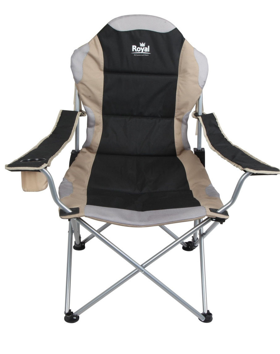 Folding Camp Chair Adjustable Royal Portable Folding Camping Chair In Black Or Blue