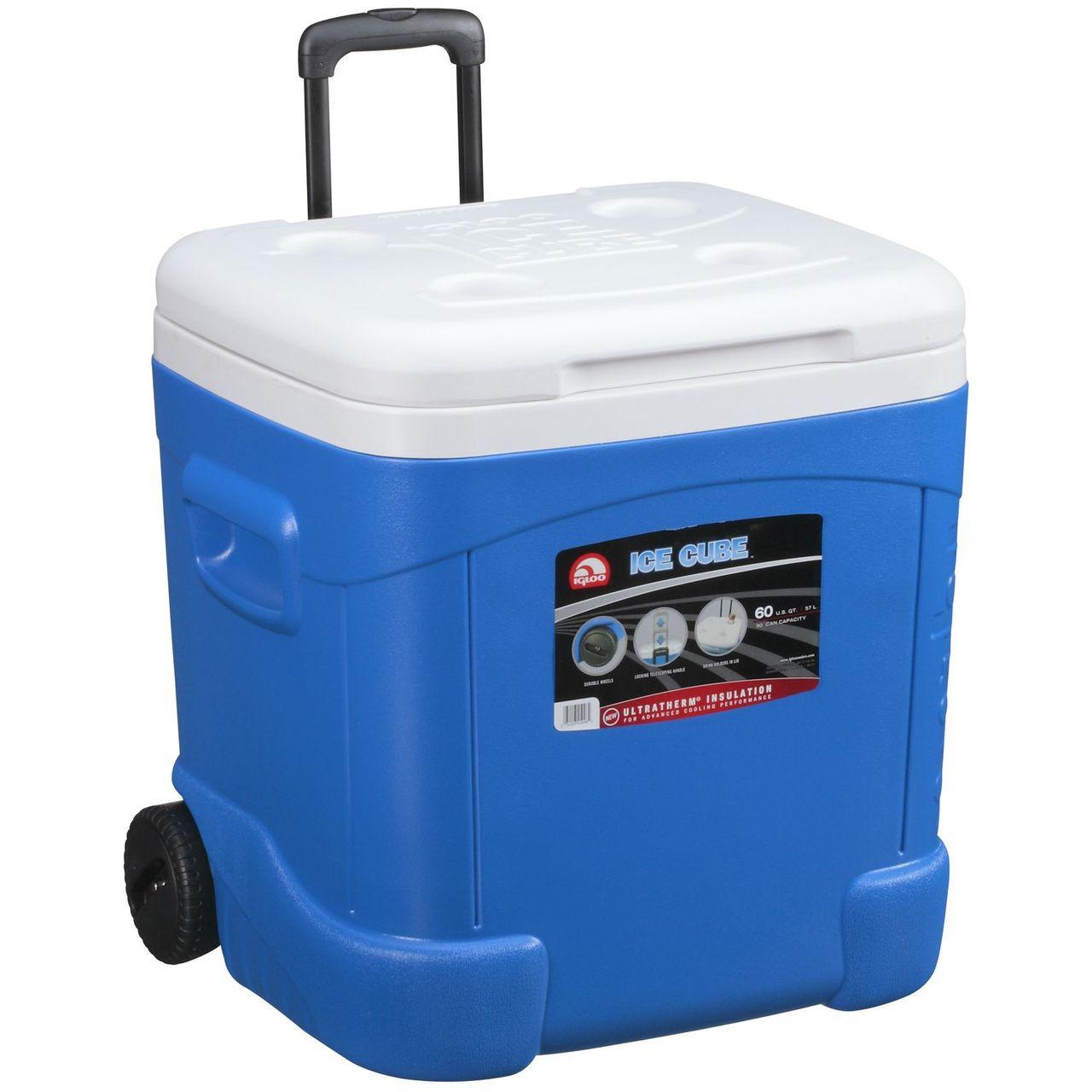 Igloo Ice Cube 60qt 57l Wheeled Cool Box Mobile