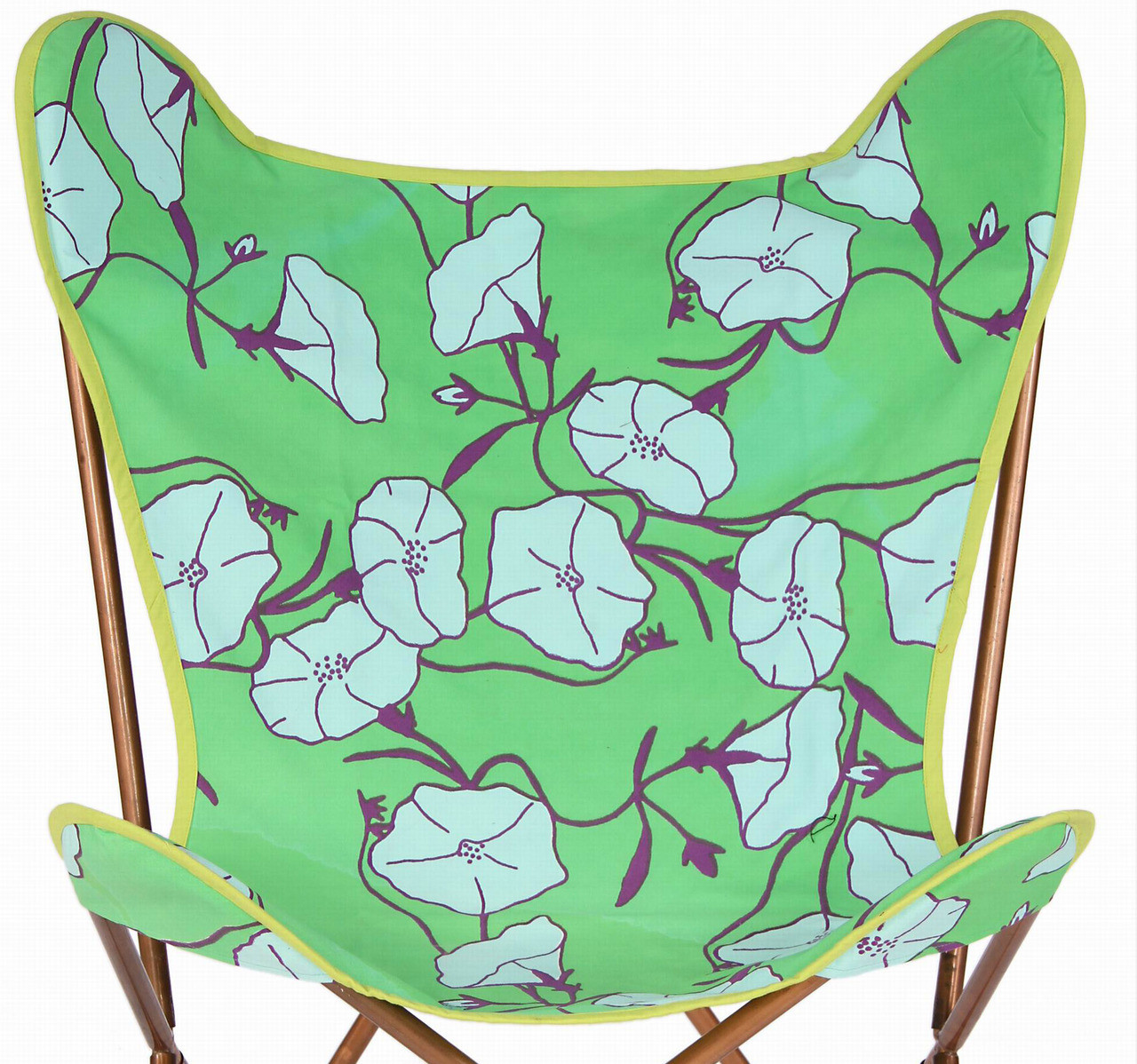 Butterfly Chair Covers Premium Butterfly Chair Kantha Cotton Cover With Green Flowers