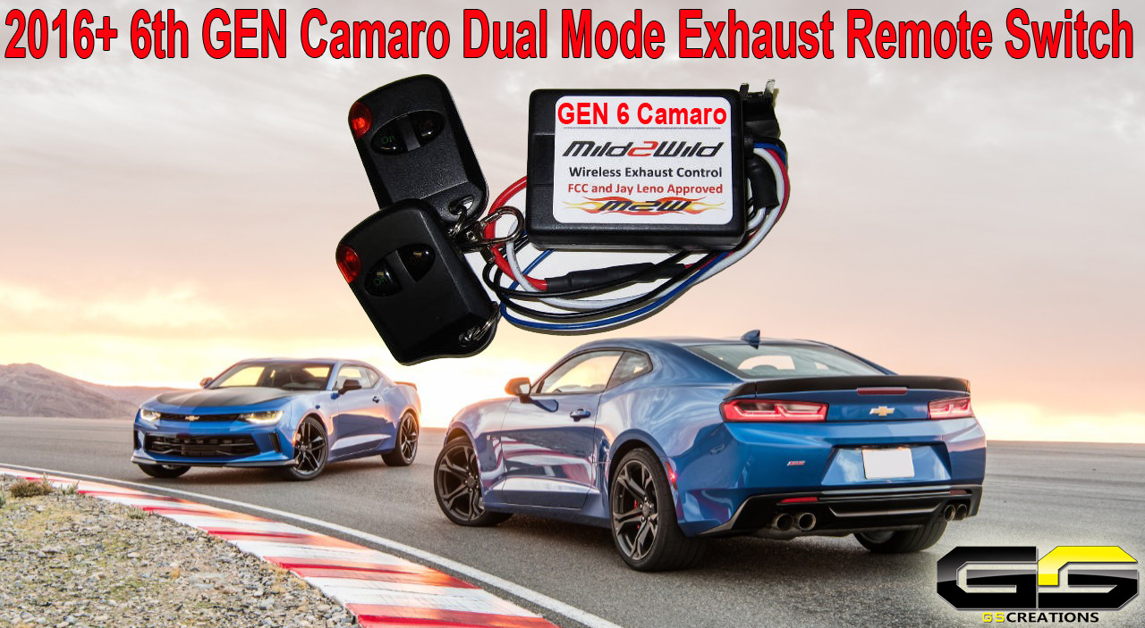 2016 2020 6th gen camaro ss zl1 z28 npp mildtowild m2w exhaust control