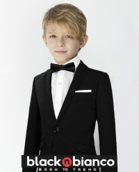 Black N Bianco Signature Boys Slim Tuxedo Suit with a Slim ...