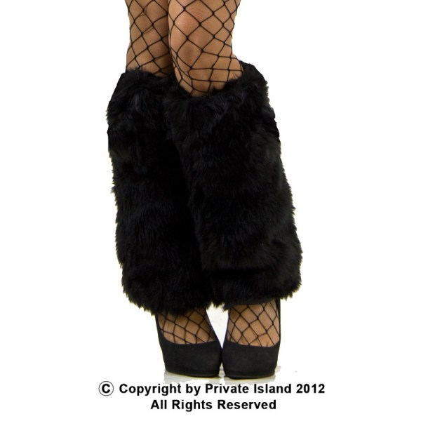 Black Furry Leg Warmers 6750 - Private Island Party