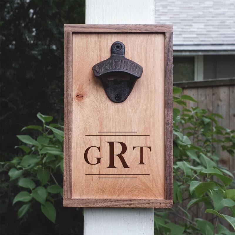personalized walnut maple wood