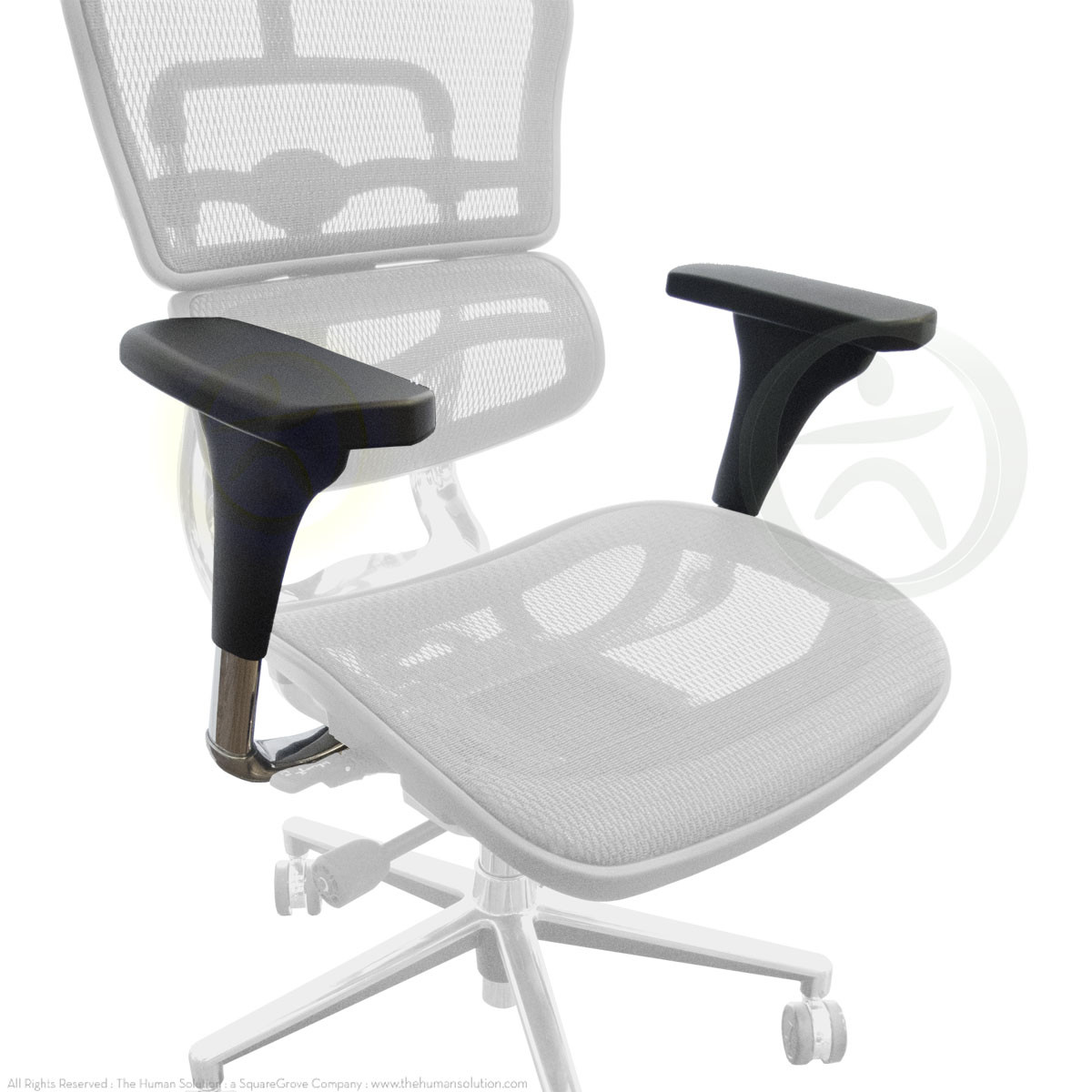 office chair armrest vending massage raynor ergohuman v1 replacement arms loading zoom