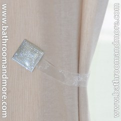Beige Chair Covers Buy Electric For Stairs White Square 2 Pc Crystal Magnetic Window Curtain Drapery Tie Back Clips - Hardware/mount Free ...