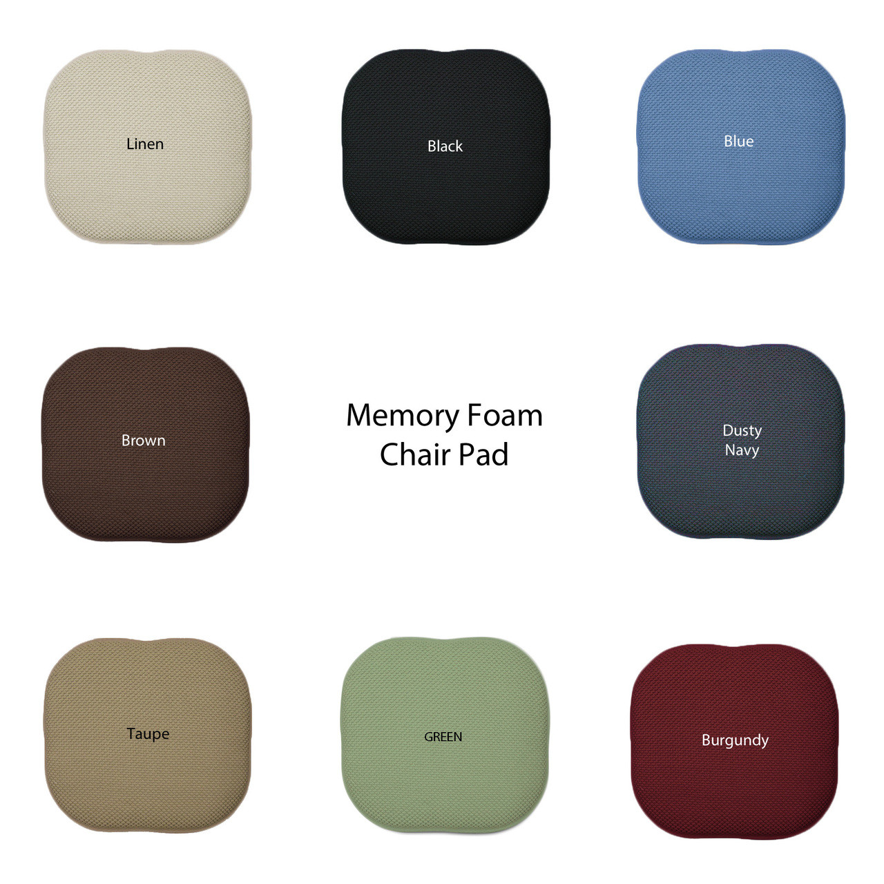 chair pads non slip retro dining table and chairs uk memory foam seat cushion pad