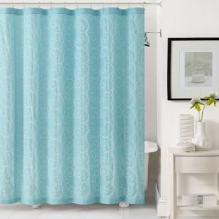 Chair Covers Bulk Buy Dollar Tree Thanksgiving Light Aqua Blue Fabric Shower Curtain: White Circle Swirl Embroidery | Bathroom And More