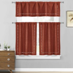 Beige Chair Covers Buy Strandmon Wing Burgundy 3 Pc. Kitchen/cafe Tier Window Curtain Set: Stars Cut-out Pattern - Bathroom And More