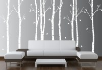 Large Wall Birch Tree Nursery Decal Forest Kids Vinyl ...