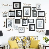 Set of 12 Family Quote Words Vinyl Wall Sticker Picture ...
