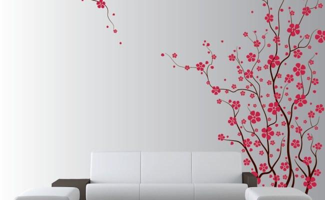 Large Wall Tree Nursery Decal Japanese Magnolia Cherry