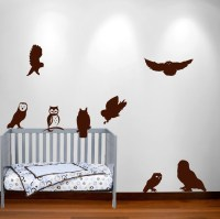 Owl Wall Decal Nursery Sticker Hunting Bird Set #1251 ...